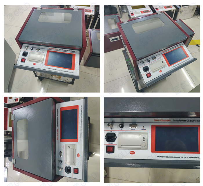 GDYJ-502A 80kV Transformer Oil BDV Tester Sold to Bulgaria